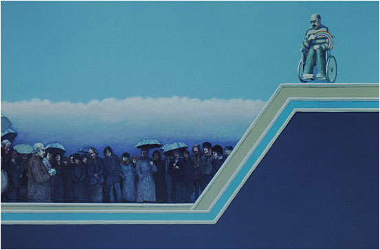 Tom's Funeral (The Rainbow) - painting by Jack Coulthard